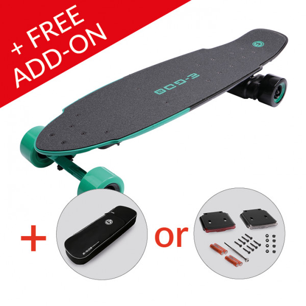 E-GO 2 E-Board, Cool Mint (+ FREE ADD-ON)