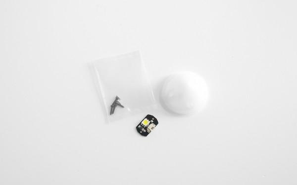 Q500 LED White + Cover, Front